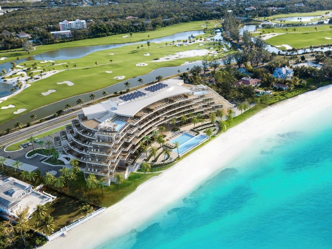 aerial view of the residences at goldwynn, bahamas
